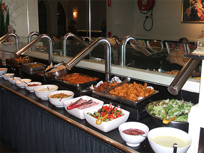 The buffet at Govinda's Restaurant in Darlinghurst. This image is from the Govinda's website.