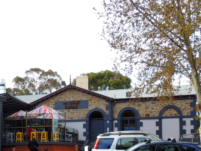in adelaide, walking trail, bowden, brompton, bowden urban village, gasworks, clipsal industries, pug holes, loose caboose