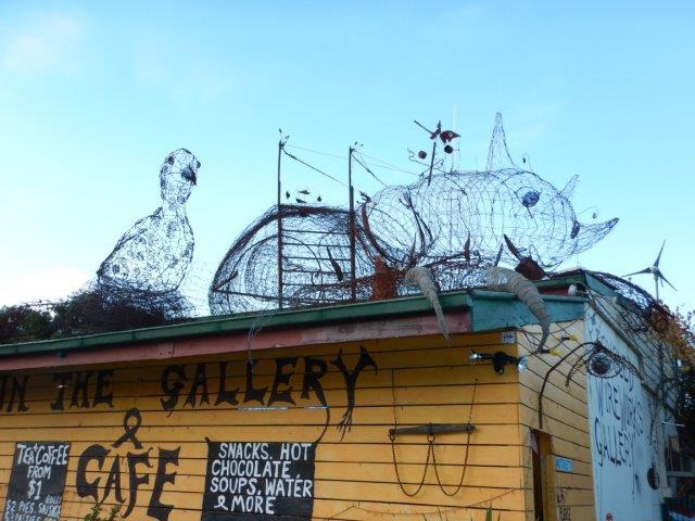 In the Gallery, recycled wire art, Ki Ki, giant spider, mallee fowl