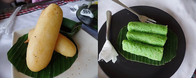 indonesian kuehs at teras padi cafe in Tegallalang bali