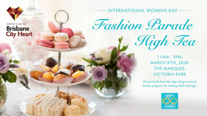 International Women's Day fashion parade and high tea
