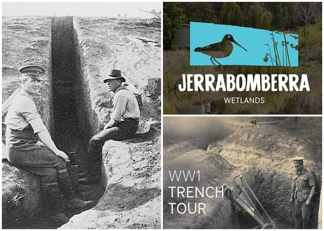 jerrabomberra wetlands, world war 1 trench tour, canberra, ACT, events, 2018, whats on, april, wetlands, events in april 2018, dairy road, war history,