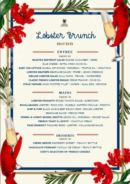 lobster brunch, seafood brunch, best brunches sydney, cafe ananas
