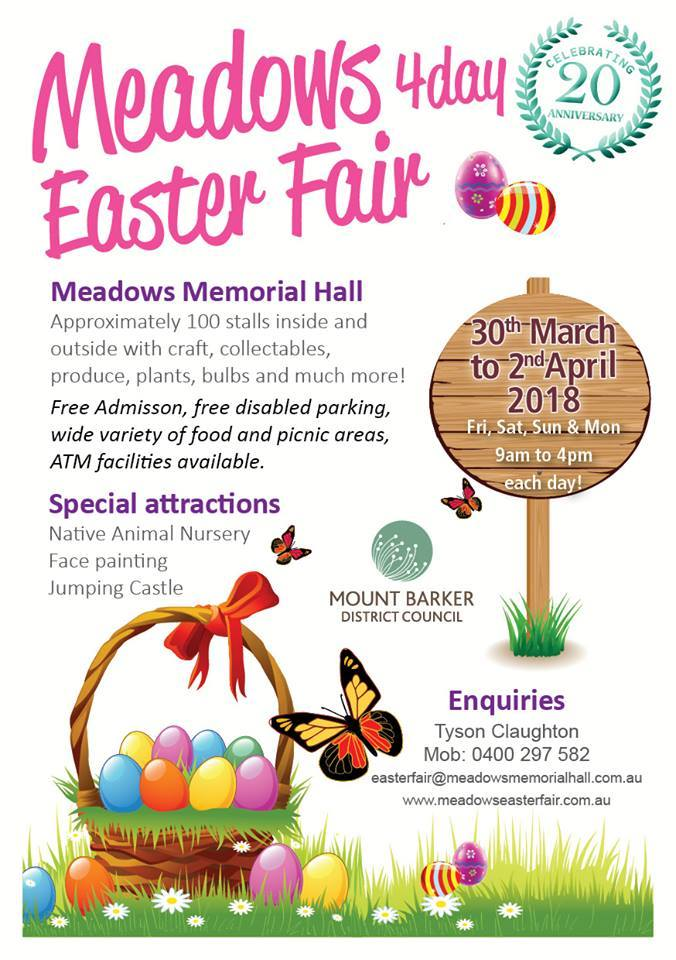 Meadows 4 day easter fair 2018 adelaide large image negle Image collections