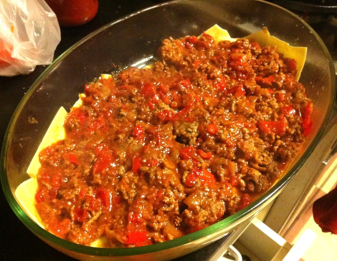 Minced beef and capsicum