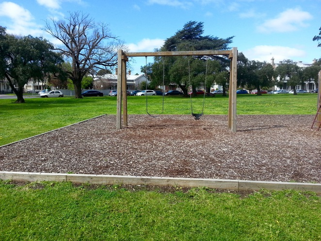 Pevensey Park, Ron Robertson Rose Garden, Gee long, Australia, playground, swings