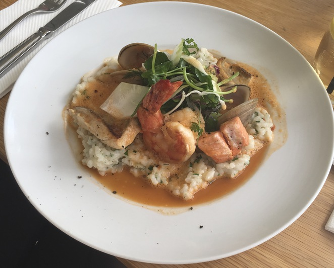 Risotto of the sea Lunch Dunbar House.