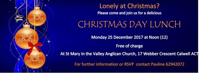 st mary in the valley, christmas day, 2017, free christmas meal, church,