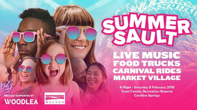 summersault, community event, fun things to do, festival, live music, food trucks, carnival rides, market village, city of melton, caroline springs town centre recreation reserve, entertainment, music, food trucks, carnival, family fun, fun for kids
