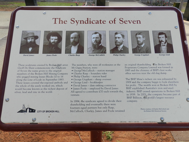 Syndicate of Seven, BHP, Broken Hill, Mining, Outback