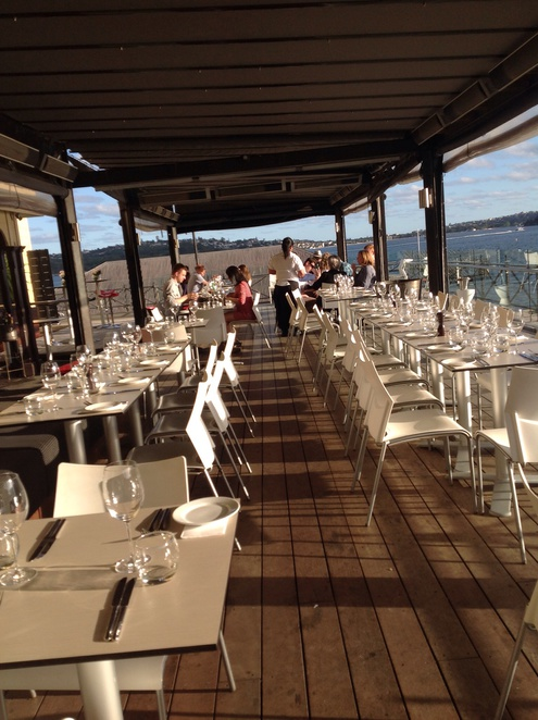 The attractive dinning deck at ripples chowder bay