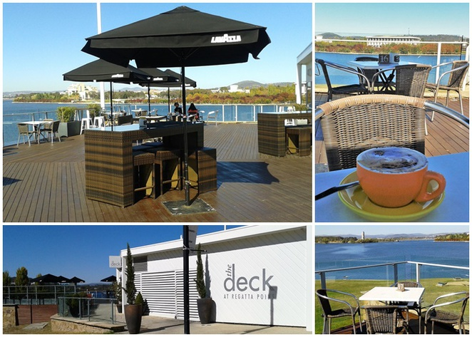 the deck at regatta point, canberra, cafes with views, lake burley griffin, ACT, breakfast, lunch, coffee,