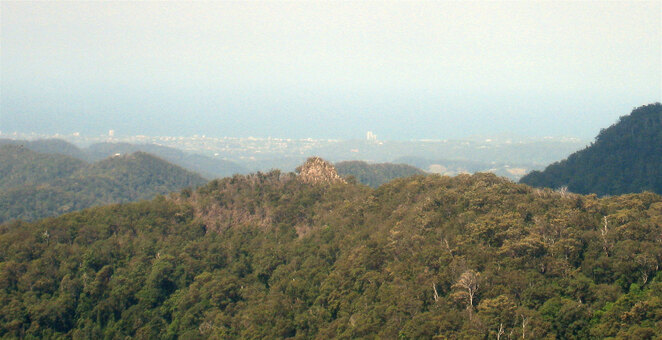 The Pinnacle is the rocky outcrop near the end of the ridge