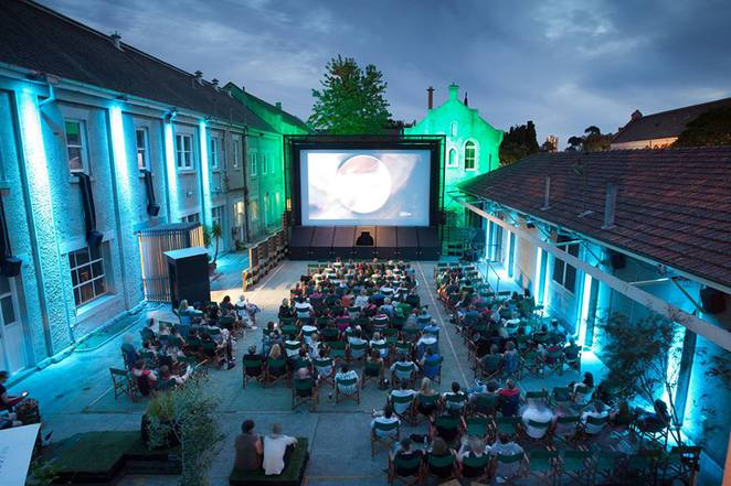the shadow electric, outdoor movies, abbots ford convent