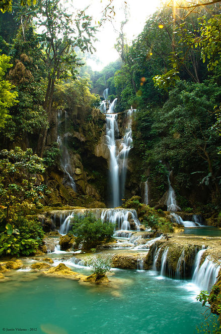 things to do in laos, things to do in luang prabang, beautiful scenery, waterfall, kuang si