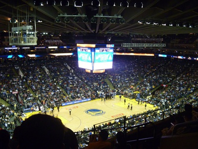 nba at oracle arena, view from the cheap seats