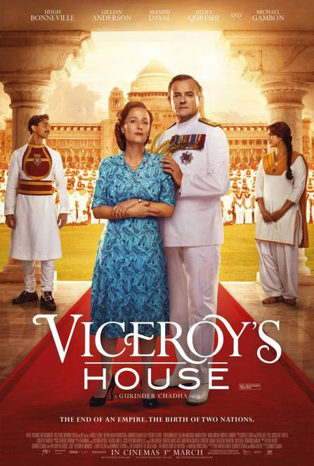 viceroys house, movie review, film review, palace cinemas, young at heart seniors film festival, movie buffs, actors, community event, film festival, gillian anderson, michael gambon, hugh bonneville, manish dayal, om puri, simon callow, huma qureshi, lily travers, set in india, lord and lady mountbatten, end of an empire, the birth of two nations, pathe international, jodhpur, rajasthan, india, bbc fims, bend it films,