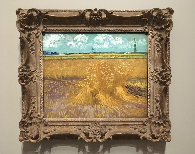Vincent Van Gogh Wheat Fields and Clouded Skies, National Gallery Victoria Exhibition, Image by Jade Jackson, Van Gogh