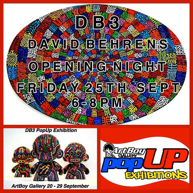 artboy gallery, dave behrens, artworks, solo exhibition, art gallery, art exhibition, pop up exhibition,