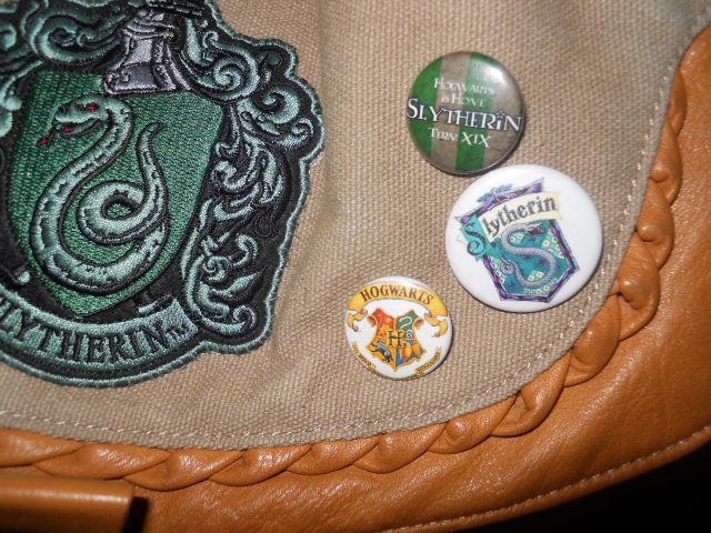badges, harry potter, slytherin