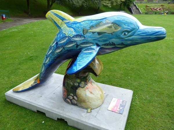 Beautiful,painted,dolphin