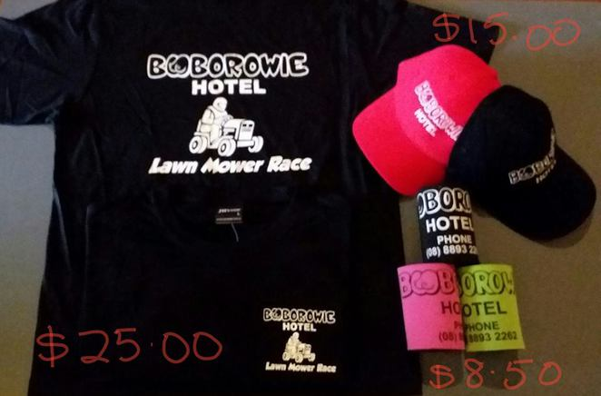 Booborowie, Mower Races, Lawn Mower racing, South Australia, family events, country fairs, Booborowie Hotel merchandise