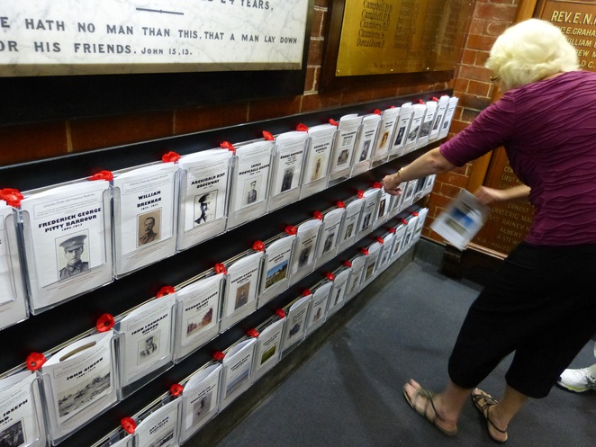 Booklets on Individual soldiers St Andrew's