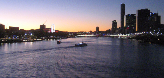 Sunset view of Brisbane River