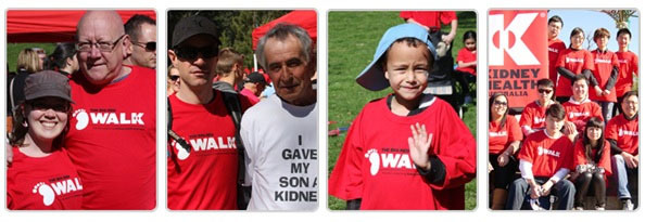 charity walk, Big Red Kidney, sausage sizzle, family fun