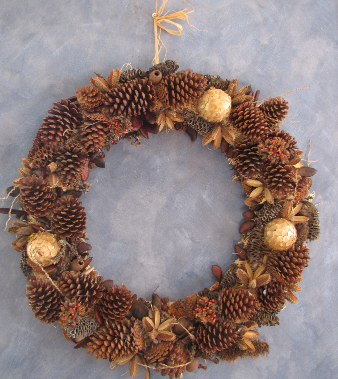 Make a christmas wreath Making wreaths