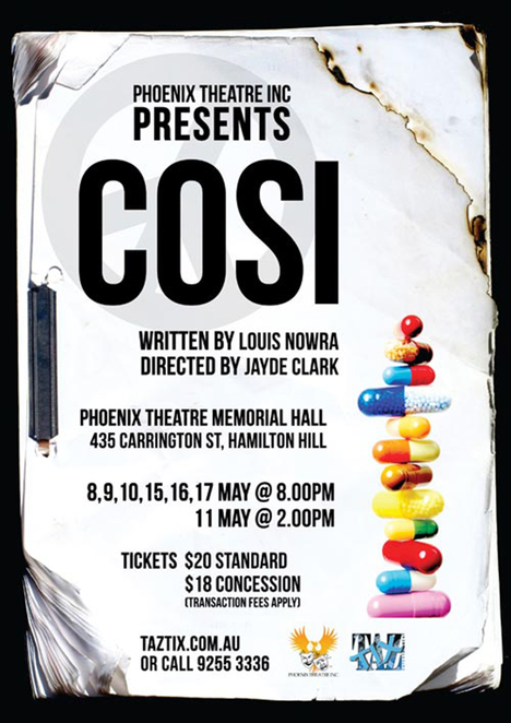 cosi by louis nowra essay Cosi is a 1996 australian comedy-drama film directed by mark joffe louis nowra wrote both the screenplay and the play it was originally based on.