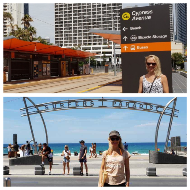 Cypress Ave Light Rail stop, Gold Coast Light Rail, Mantra Crown Towers, Surfers Paradise Beach Accommodation