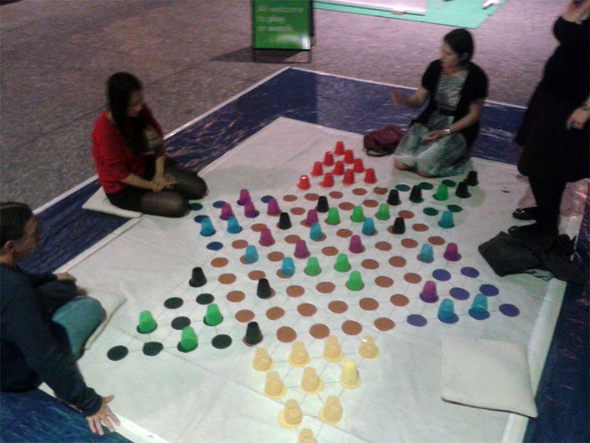 Giant Chinese Checkers in King George Square
