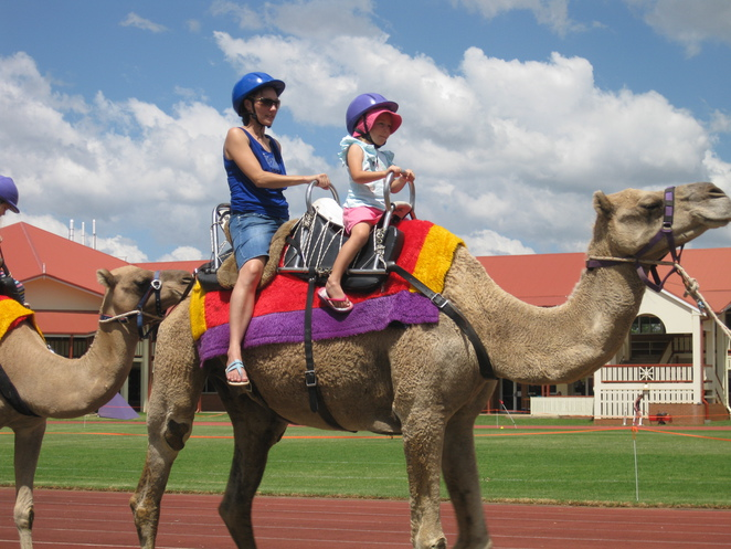 Glennie School Fair 2017 camel ride