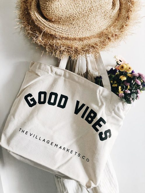 Good Vibes Market Bag