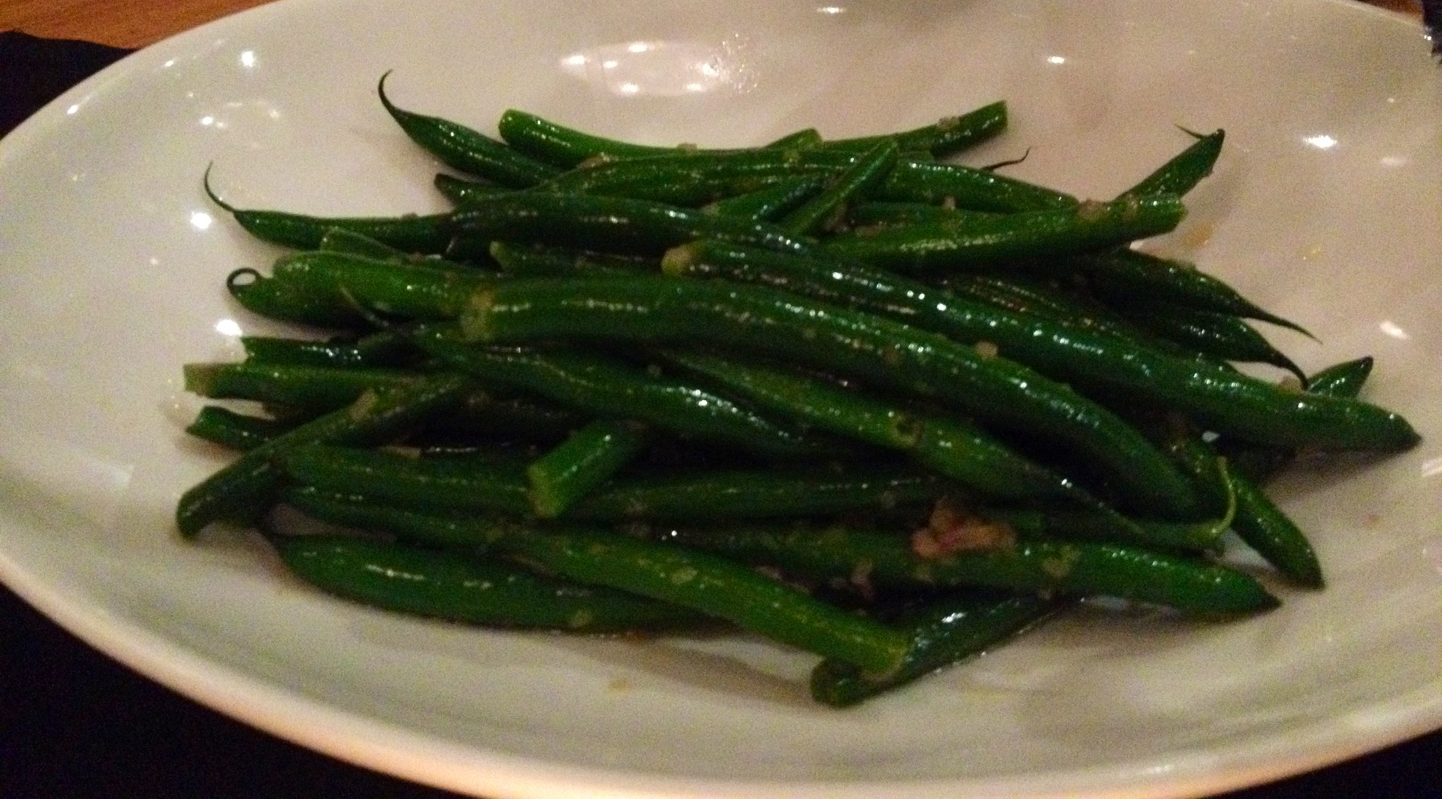 Green beans, lemon, nut butter - Side of green beans to accompany the ...