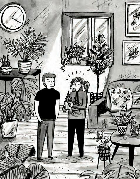 Happily Ever After, Debbie Tung, comics, plant obsession, plant lovers