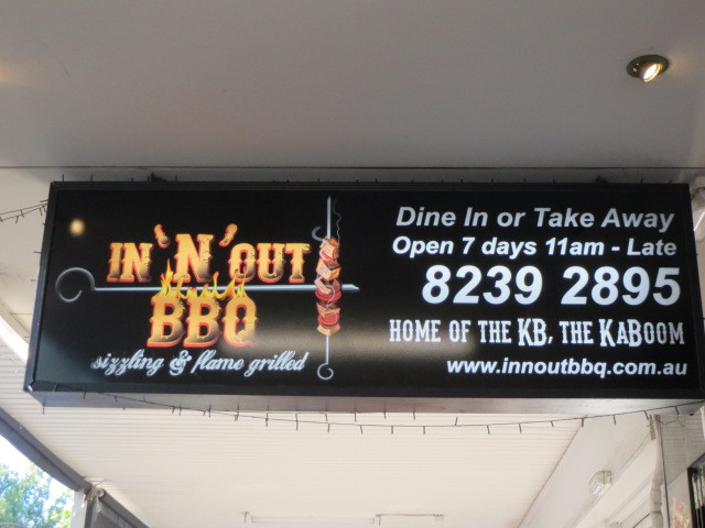 In 'N' Out BBQ, Adelaide