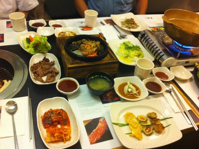 Koba Korean BBQ restaurant, best korean restaurant adelaide, best BBQ restaurant adelaide, Korean side dishes, Korean feast