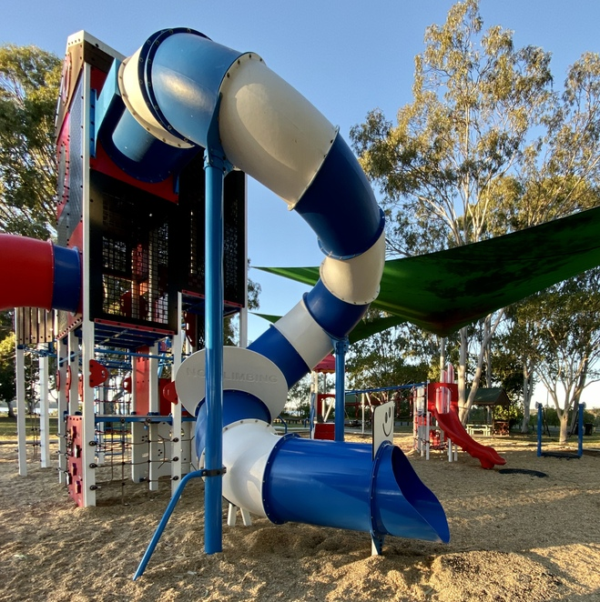 The fantastic, multi-level tower keeps children active and exploring together