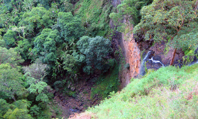 Mapleton Falls with only a small amount of water