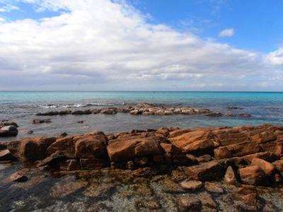 From this rocky headland at Meelup Regional Park, I spotted two whales playing in the calm waters of Geographe Bay.