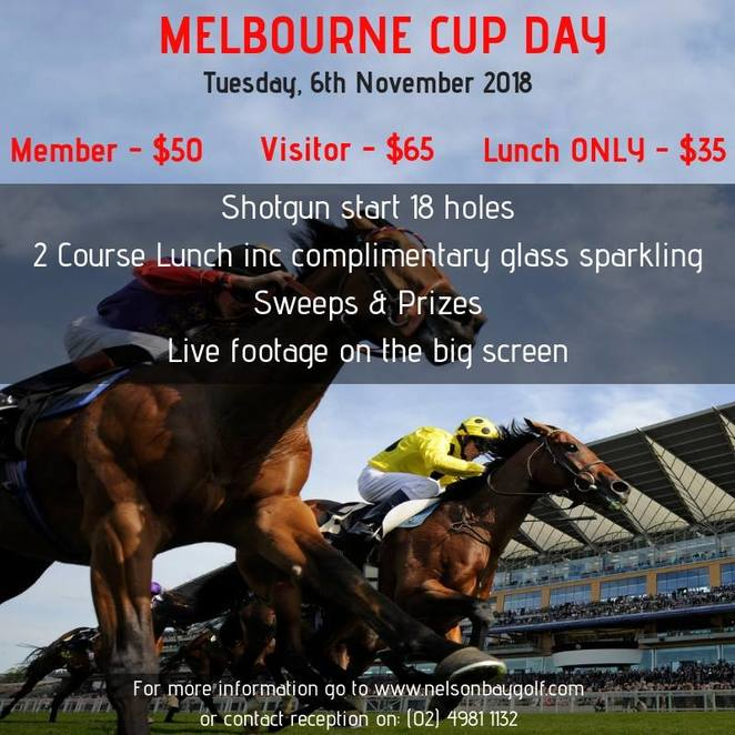 melbourne cup, nelson bay golf club, NSW, 2018, whats on, melbourne cup events, port stephens, events, sweeps, lunch, things to do, clubs, events in nelson bay,