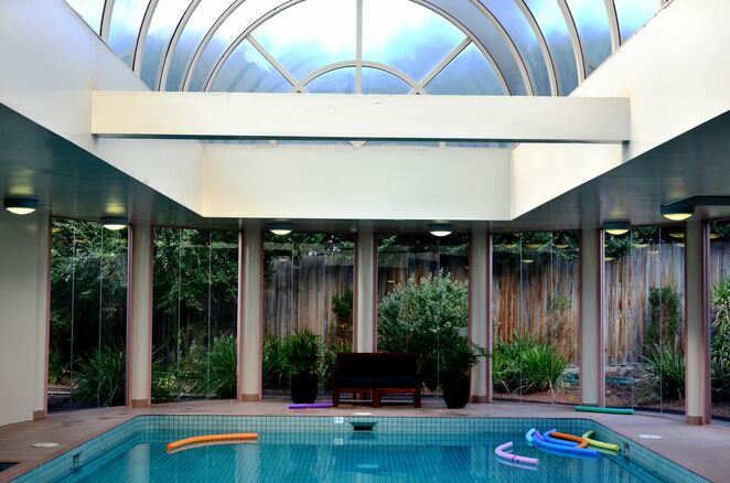 Not just your toes should pop into this heated pool so take your bathers
