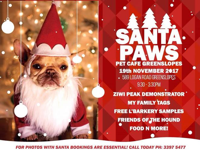 pet cafe greenslopes, Santa paws, dog event, free, lbarkery, free samples, ziwi peak, friends of the hound, pet shop, shopping