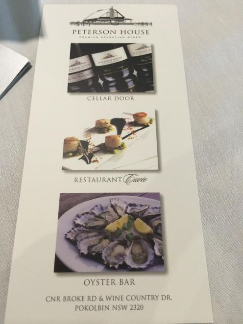 Petersons Champagne House, Hunter Valley, Sparkling wine, Oysters