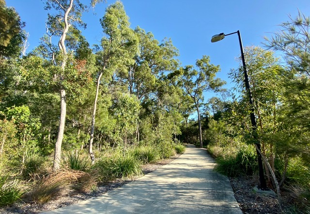 This link between the Pinklands Bushland Refuge and Moreton Bay Cycleway provides a transition from the bushland to the Thornlands Community Park