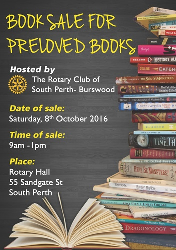 Pre-loved,book,sale,Rotary,Club