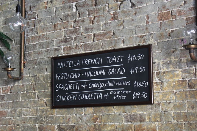 Specials wall inc. Nutella french toast
