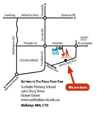 Surfside Primary School Fresh Food Fair 2016, Map, directions, Getting there